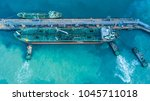 aerial view super tanker ship... | Shutterstock . vector #1045711018