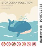 global environmental problems.... | Shutterstock .eps vector #1045711768