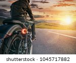 motorcycle rider ready for... | Shutterstock . vector #1045717882