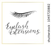 eyelash extensions logo with... | Shutterstock .eps vector #1045720882