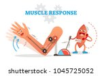 muscle response conceptual... | Shutterstock .eps vector #1045725052
