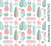 vector seamless pattern with... | Shutterstock .eps vector #1045731742