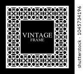 vintage white border frame with ... | Shutterstock .eps vector #1045734196