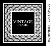 vintage white border frame with ... | Shutterstock .eps vector #1045734202