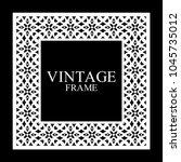 vintage white border frame with ... | Shutterstock .eps vector #1045735012