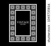 vintage  white border frame... | Shutterstock .eps vector #1045735816
