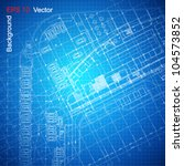 urban blueprint  vector .... | Shutterstock .eps vector #104573852