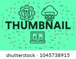 conceptual business... | Shutterstock . vector #1045738915