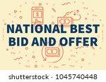 conceptual business... | Shutterstock . vector #1045740448