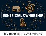 conceptual business... | Shutterstock . vector #1045740748