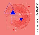 trendy abstract art geometric... | Shutterstock .eps vector #1045744336