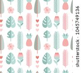 vector seamless pattern with... | Shutterstock .eps vector #1045749136