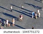 blurred image of people walking ...   Shutterstock . vector #1045751272
