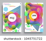 covers templates set with... | Shutterstock .eps vector #1045751722