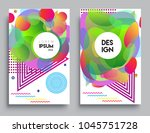 covers templates set with... | Shutterstock .eps vector #1045751728
