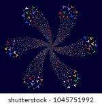 bright medical caduceus emblem... | Shutterstock . vector #1045751992