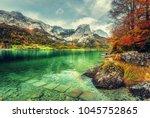 wonderfull alpine landscape.... | Shutterstock . vector #1045752865