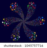 psychedelic intellect gears... | Shutterstock . vector #1045757716