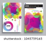 covers templates set with... | Shutterstock .eps vector #1045759165
