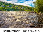 mountain forest river flowing | Shutterstock . vector #1045762516