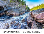 mountain river canyon landscape | Shutterstock . vector #1045762582