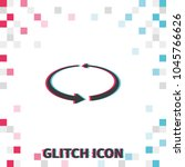 reload  glitch effect vector... | Shutterstock .eps vector #1045766626