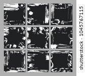 hand drawn card set. ink... | Shutterstock .eps vector #1045767115