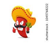 red chili pepper vector...   Shutterstock .eps vector #1045768222