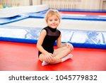 family in trampoline center   Shutterstock . vector #1045779832