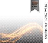 modern wavy golden light... | Shutterstock .eps vector #1045779856