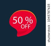 50  off discount sticker ... | Shutterstock .eps vector #1045787635
