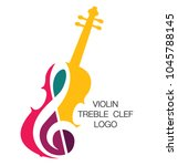 Musical Logo. Silhouette Of A...
