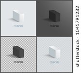 four cuboids layouts  color...   Shutterstock .eps vector #1045791232