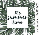 summer vector banner with palm... | Shutterstock .eps vector #1045793476