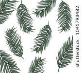 summer vector banner with palm... | Shutterstock .eps vector #1045793482