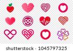 heart logos set abstract design ... | Shutterstock .eps vector #1045797325