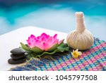 spa stone massage with thai... | Shutterstock . vector #1045797508