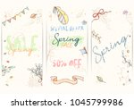 spring sale card can be used... | Shutterstock .eps vector #1045799986