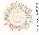 spring sale card can be used... | Shutterstock .eps vector #1045799992