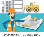 under construction design | Shutterstock .eps vector #1045801042