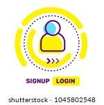 vector linear illustration of... | Shutterstock .eps vector #1045802548