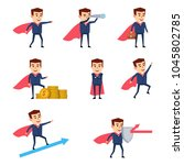 businessman with super hero...   Shutterstock .eps vector #1045802785