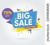 big sale  sale banners  tags ... | Shutterstock .eps vector #1045808008
