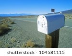 Solitary Mailbox By Side Of...