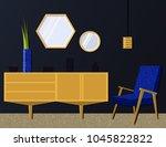 vector illustration of a living ... | Shutterstock .eps vector #1045822822