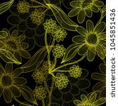elegant seamless pattern with... | Shutterstock . vector #1045851436