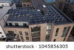 aerial drone image of solar... | Shutterstock . vector #1045856305