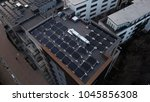 aerial drone image of solar... | Shutterstock . vector #1045856308