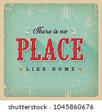 there is no place like home... | Shutterstock .eps vector #1045860676