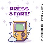 press start retro videogame... | Shutterstock .eps vector #1045864048